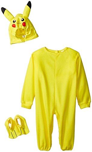 [Rubies Pokemon Pikachu Toddler Jumpsuit Costume (Pikachu, 2T)] (Pikachu Ears And Tail Costume)