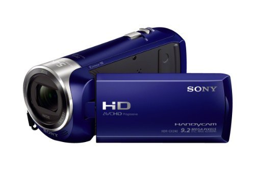 Sony HDRCX240/L Video Camera with 2.7-Inch LCD – Blue (Renewed)