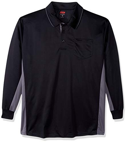 Adams USA MLB Style Long Sleeve Baseball Umpire Shirt - Sized for Chest Protector, Black, X-Large ()