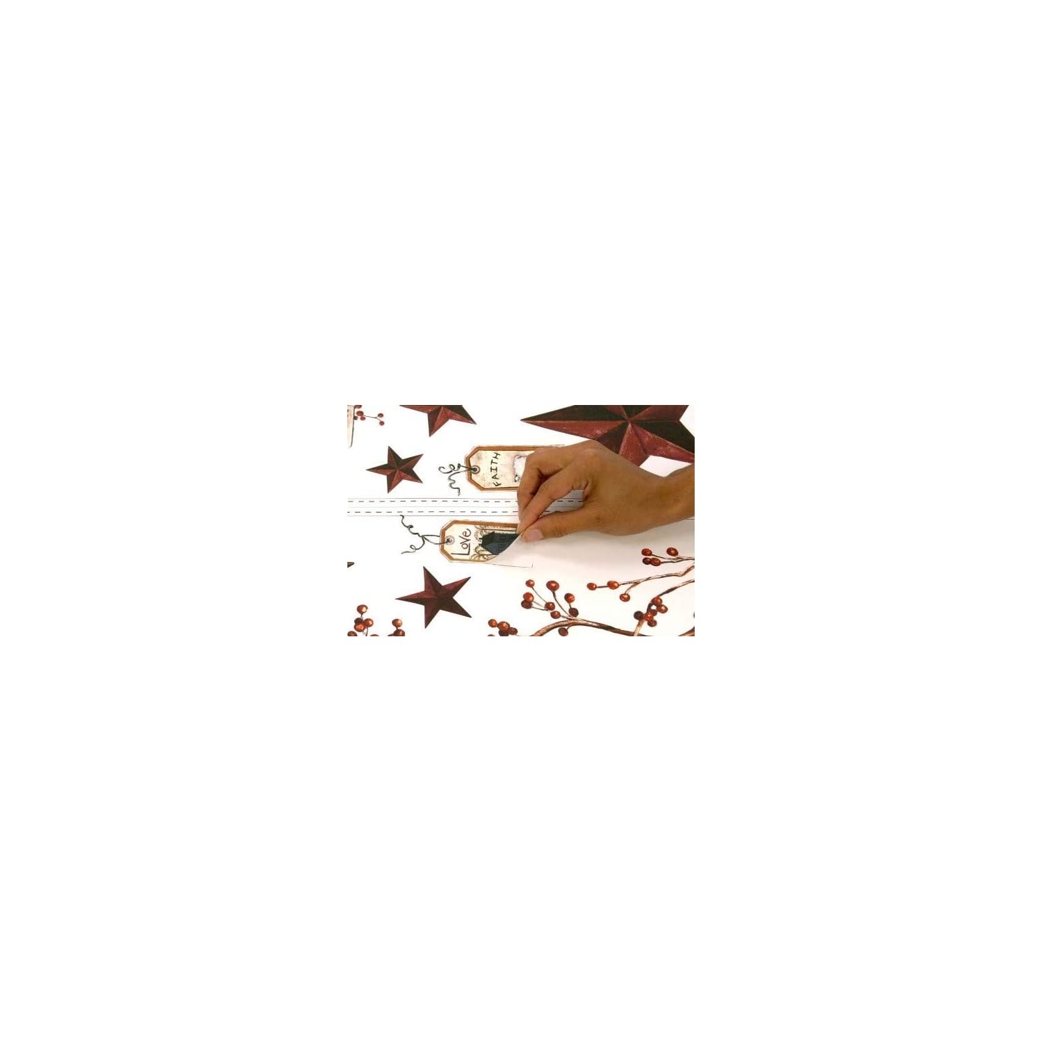 RoomMates Country Stars & Berries Peel and Stick Wall Decals – RMK1276SCS
