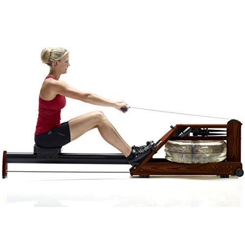 Water Rower Exercise Machine by WaterRower - A1 S4 Rose with Self-Regulating Resistance