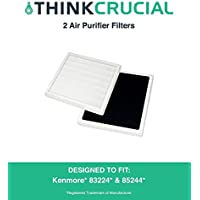 2 High Efficiency Kenmore Replacement Air Purifier Filters Fit 83244 & 85244, Compare to Part # 83159, Designed & Engineered by Crucial Air