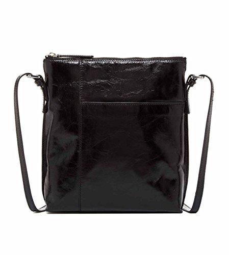 [Hobo Alessa Leather Shoulder Bag (Black)] (Hobo Purses)