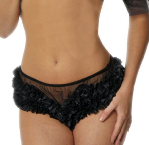 Black Ruffled Panties - 8