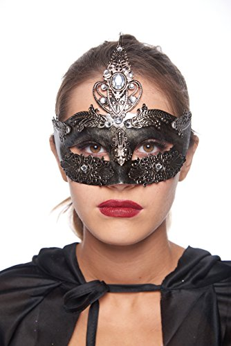 Roman Goddess Masquerade Mask (Unisex; One Size Fits Most; Silver)