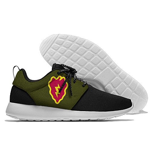 FLYOCEAN Army 25th Infantry Division For Men Leisure Lightweight Running Sports Shoes Mesh Walking Sneakers