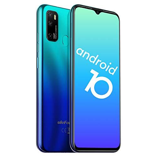 Telefono Movil Libres 4G, Ulefone Note 9P Android 10 Octa-Core Smartphone Libre, 6 52 HD+, 4GB + 64GB(256GB SD), Camara Trasera Triple AI de 16MP, Bateria 4500mAh, Smartphone Barato Dual SIM, Tipo C