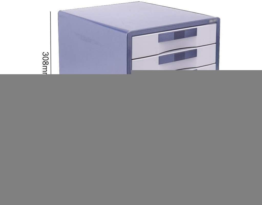 30X35X30.8CM File cabinet Drawer Data Cabinet Storage Box Stationery Case Office Receipt Comfortable Hand-Pull Design Slide Track Metal Office Supplies Color : B1