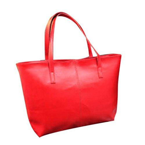 bolso la de de de bolsa de señora Rojo la PU hombro asas cuero Bolso ZARU EPSqww