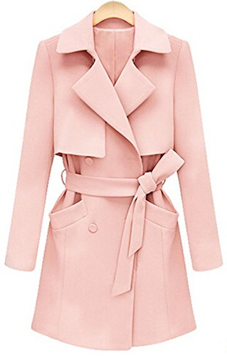 Umlife® Womens Double-breasted Coat Long Warm Jacket Coat Trench ...