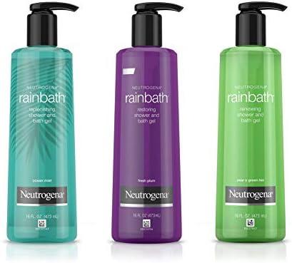 Neutrogena rainbath ducha y Gel de Baño, Multi-Pack, océano niebla, dulce ciruela, pera y té verde: Amazon.es: Salud y cuidado personal