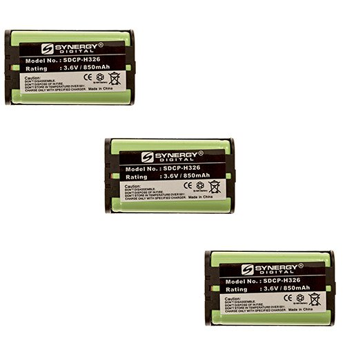 (Radio Shack 43-3815 Cordless Phone Battery Combo-Pack Includes: 3 x SDCP-H326)