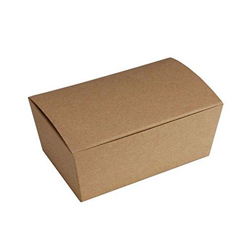 1/4 LB. Kraft Ballotin Boxes - 4-1/8 x 2-5/8 x 1-7/8-10 Pack