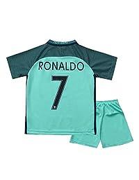 caxa 2016 Portugal Youths Away Kit Soccer Kids Jersey & Short