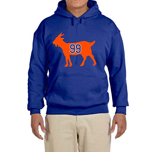 Tobin Clothing Blue Edmonton Gretzky Goat Hooded Sweatshirt Youth XL