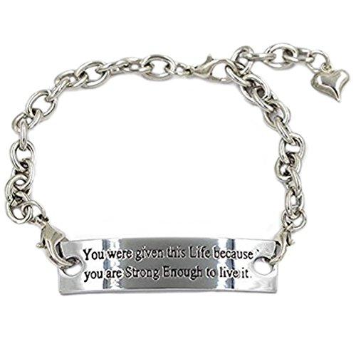 Stronger Enough Inspirational Elegant Bracelet