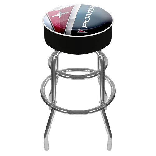 Rung Swivel Fabric Bar Stool - Pontiac Padded Swivel Bar Stool