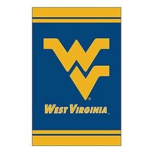 "NCAA West Virginia University Sports Fiber Optic Outdoor Garden Flag 18"" x 12.5"""
