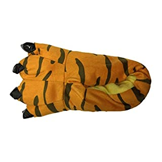 Halloween Costume House Shoes Cozy Slip On Bear Paw Slippers Tiger M