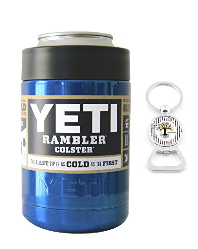 Powder Coated by The Twisted Cup - YETI Coolers Custom Rambler Colster Insulated Beverage Holder - Keep your 12 oz (12oz) beer or soda, can or bottle, cold for hours (Blue Metallic)