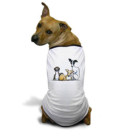 CafePress - Italian Greyhound Trio Dog T-Shirt - Dog T-Shirt, Pet Clothing, Funny Dog Costume (Italian Greyhound Dog Sweaters compare prices)