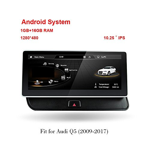MCWAUTO for Audi Q5 2009-2017 10.25 inch Screen Android 4.4 Car Audi GPS Navigation System Radio Player Media Stereo