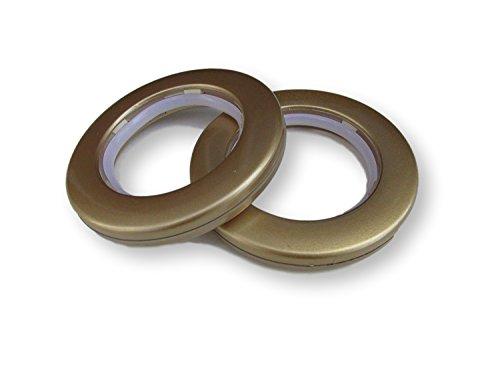 10 x dorado anillas para cortinas con ojales para cortinas con ojales bajo nivel de ruido: Amazon.es: Hogar