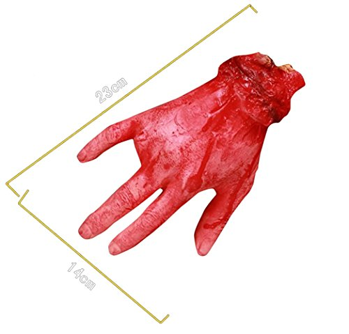 Dead Terrorist Halloween Costume - LETSQK Fake Severed Hands Heart Finger Bloody Broken Body Parts Props for Halloween Party Hand