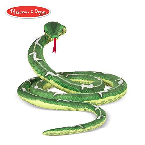 Melissa & Doug Giant Boa Constrictor - Lifelike Stuffed Animal Snake (over 14 feet long) (Snake Green Plush)