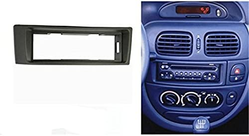 Sound-way Kit de Montaje Autoradio, 1 DIN Marco Adaptador Radio, Adaptador Antena, Llaves de desmontaje, Compatible con Renault Megane, Scenic