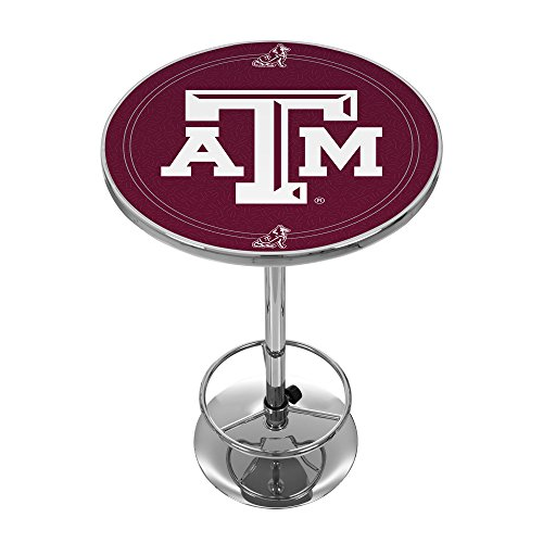 NCAA Texas A&M University Chrome Pub Table University Pool Table