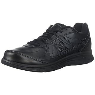 New Balance Men's 577 V1 Lace-Up Walking Shoe, Black, 8 XW US