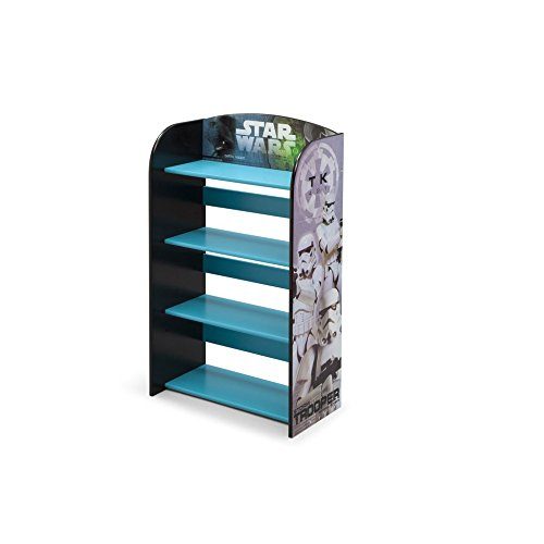 Delta Children Star Wars Kids Adorable Darth Vader and Storm Troopers Corner Adjustable Bookshelf Organizer