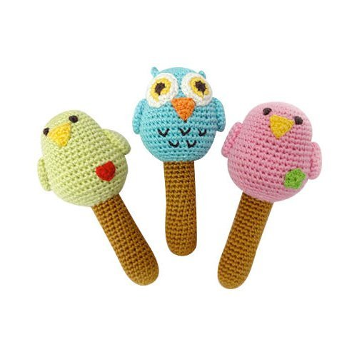 Fair Trade Children's Organic Bird Rattles by Yellow Label Kids   B004PQBMFW