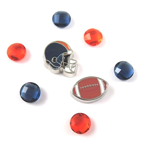 (FCL Designs Football Theme #6 Floating Charm Combination for Lockets )