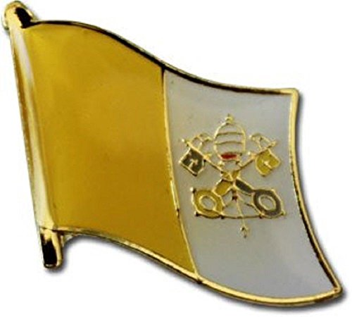 ALBATROS Pack of 6 Vatican City Country Flag Lapel Pin for Bike Hat and Cap for Home and Parades, Official Party, All Weather Indoors Outdoors -