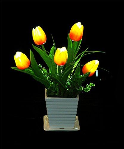 LED-Silk-Flower-Arrangements-USB-OTG-Power-Supply-Tulip-Artificial-Flower-Arrangements-with-Flower-Pot