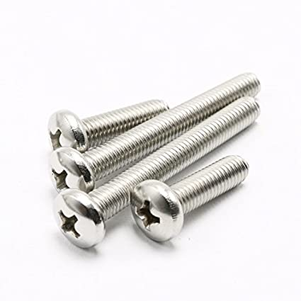 M1.4 x 4mm M1.4 Phillips Pan Head Machine Screws A2 Stainless Steel Thread Length 3 to 12mm,Pack 100-piece