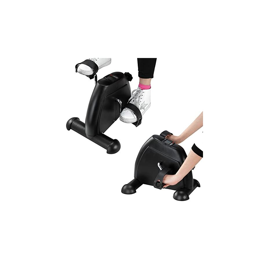 Kingpex Mini Exercise Bike Cycle Pedal Fitness Arm and Leg Exerciser with LCD Display for Office Home Gym