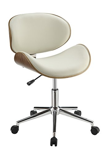 Coaster Home Furnishings 800615 Leatherette Office Chair, NULL, Ecru by Coaster Home Furnishings