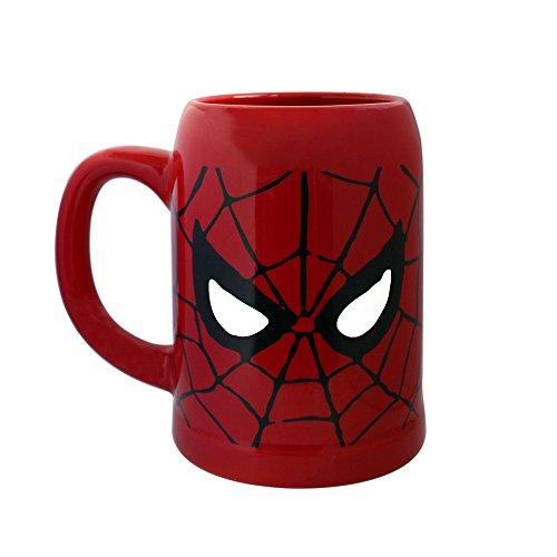 Silver Buffalo MC7041 Marvel Spider-Man Ceramic Stein Mug, 22-Ounces