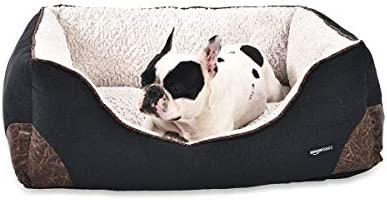 Amazon Basics Cuddler Bolster Pet Bed For Cats or Dogs, Soft and Comforting