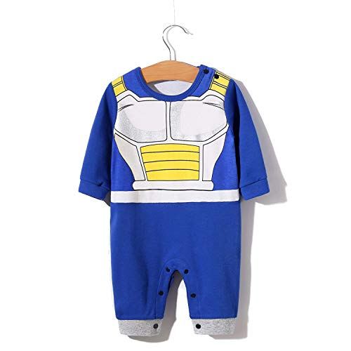 ec526dd83 YFYBaby Newborn Baby Boy Dragon Ball Z Costume Romper Vegeta Outfit Infant  Playsuit Gift Blue -