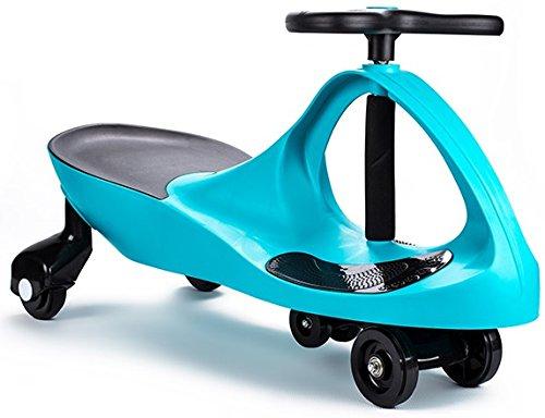 POWERMAT Hellblau Rutschauto Swing Car Automodell Gummi-Kunststoff Rad 100 kg Belastbarkeit