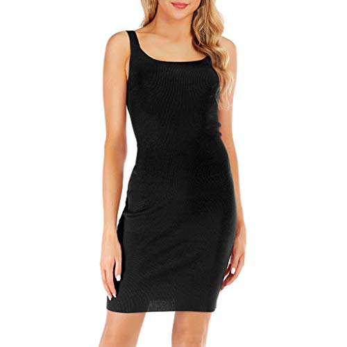 1950 Backpack - Letdown Party Dress for Women Elegant Sexy Summer Explosion Slim Sling Knit Dress Sexy Dew Backpack Hip Dress Female Black