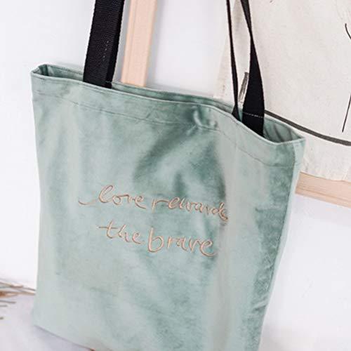 Bandoulière Velvet Mode Filles Sac Fenical gris Femmes Bleu Retro Bag Tote Pour La À Main 7Sqpq0zW