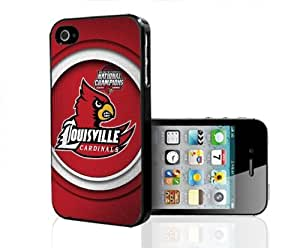 Louisville Cardinals National Champions Red Football Sports Hard Snap on Cell Phone Case iPhone (4 4s)
