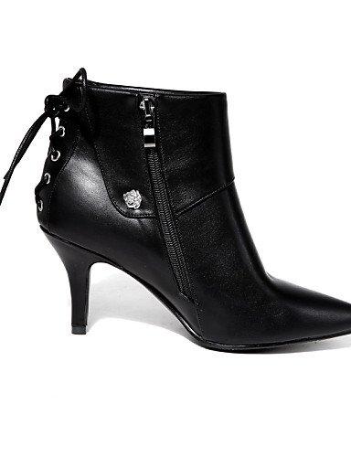 Cn43 Uk6 A Semicuero La Zapatos Beige Mujer Negro Vestido Moda Cn39 5 Puntiagudos us10 us8 5 De Casual Xzz Eu39 Beige Tacón Black Eu42 Uk8 Stiletto Botas 401xqx