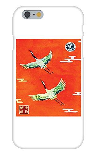 Obama Phone Costume (Flying Cranes Mural Yuya Negishi YUYART - Apple iPhone 6 Custom Case White Plastic Snap On)