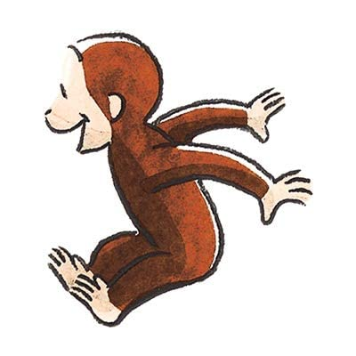 4 Inch Curious George Jumping Decal Classic Storybook Monkey Removable Peel Self Stick Wall Sticker Art (Decoration for Walls Laptop Yeti Tumbler) Nursery Bedroom Home Decor 3 1/2 x 4 inch: Baby